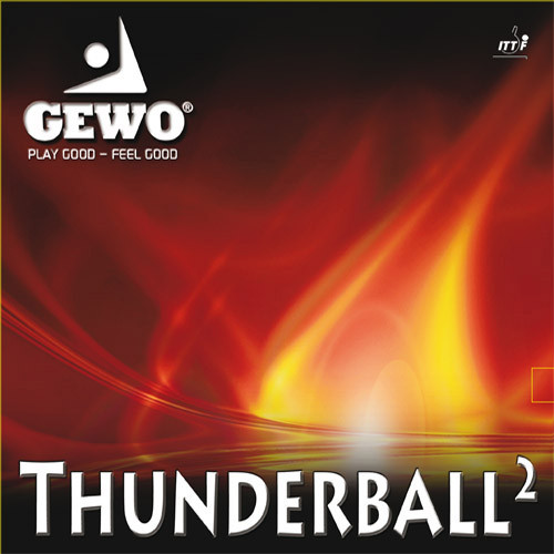 Gewo Thunderball 2 Rubber Sheet Ping Pong Depot Table Tennis Equipment