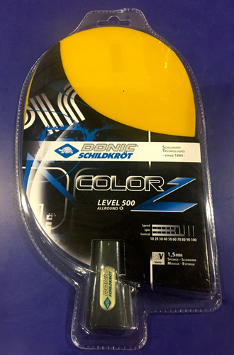 Donic Schildkröt ColorZ Yellow Racket Ping Pong Depot Table Tennis Equipment