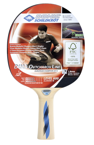 Donic-Schildkröt Ovtcharov 600 FSC Racket Ping Pong Depot Table Tennis Equipment
