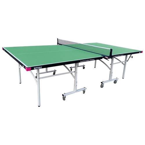 Butterfly Easifold Outdoor Rollaway Green Table, includes shipping and Net (USA Only) Ping Pong Depot Table Tennis Equipment