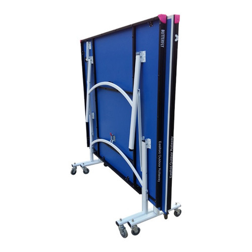 Butterfly Easifold Outdoor Rollaway Blue Table, includes shipping and Net (USA Only) Ping Pong Depot Table Tennis Equipment