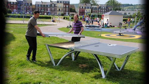 Cornilleau Park Grey Table USA only Ping Pong Depot Table Tennis Equipment