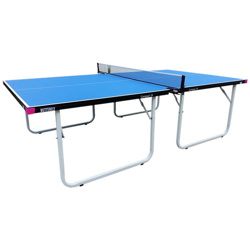 Butterfly Compact Indoor Blue Table, includes shipping and Net USA Only Ping Pong Depot Table Tennis Equipment