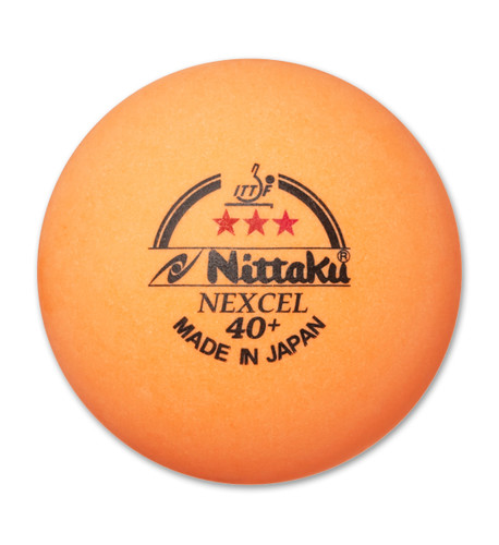 Nittaku 40+ Nexcell 3* Orange (3) balls Made in Japan Ping Pong Depot Table Tennis Equipment