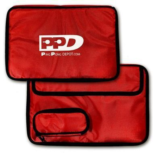 Ping-Pong Depot Table Tennis Double Rectangle Red Racket Case