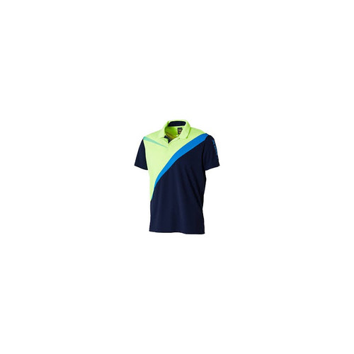 Xiom Jake L Navy / Lime Shirt   Ping Pong Depot Table Tennis Equipment
