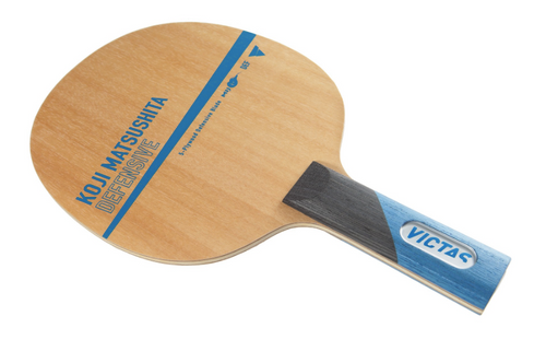 Combo - Victas  Koji Matsushita Defensive  FL Blade - Weekend Daily Special Save 34% for combo (Add 2 Combo Rubber Sheets) Ping Pong Depot Table Tennis Equipement