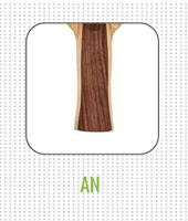 Anatomical AN handle on table tennis racket