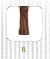 Flared FL Handle on table tennis racket
