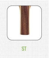 Straight ST handle on table tennis racket
