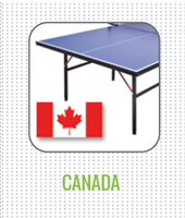 Table tennis tables shipping to Canada