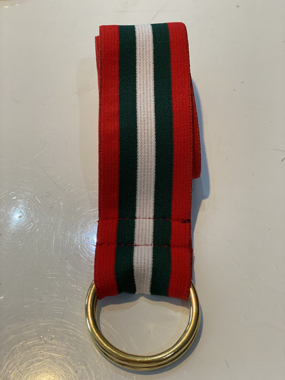 Red, Green and White Stripe