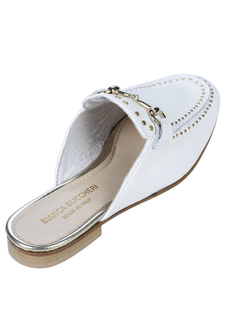 Bianca Buccheri 1097bb Hadi Loafer White back view