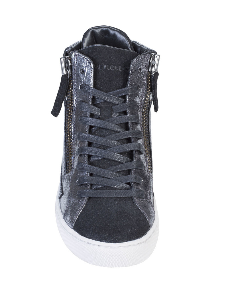 Crime LEOLAc Leola Sneaker Silver front view