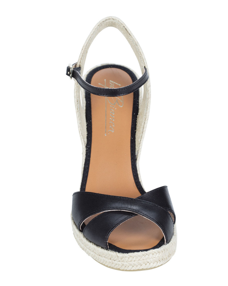 By Bianca Cortino Wedge Black