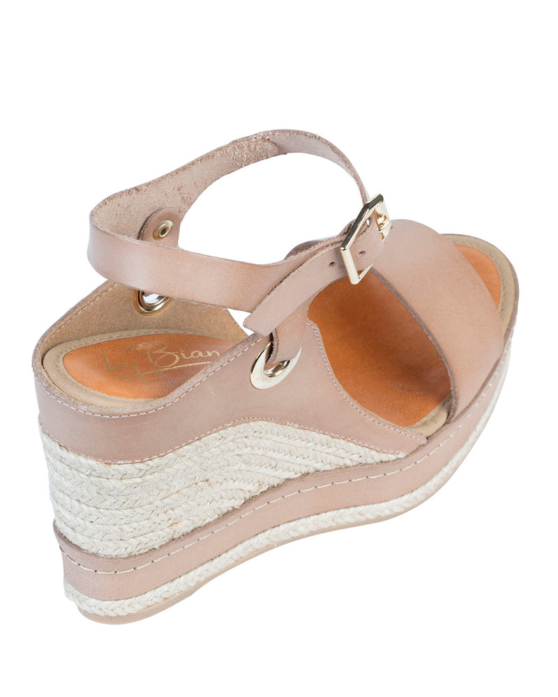 By Bianca Zeta Wedge Taupe