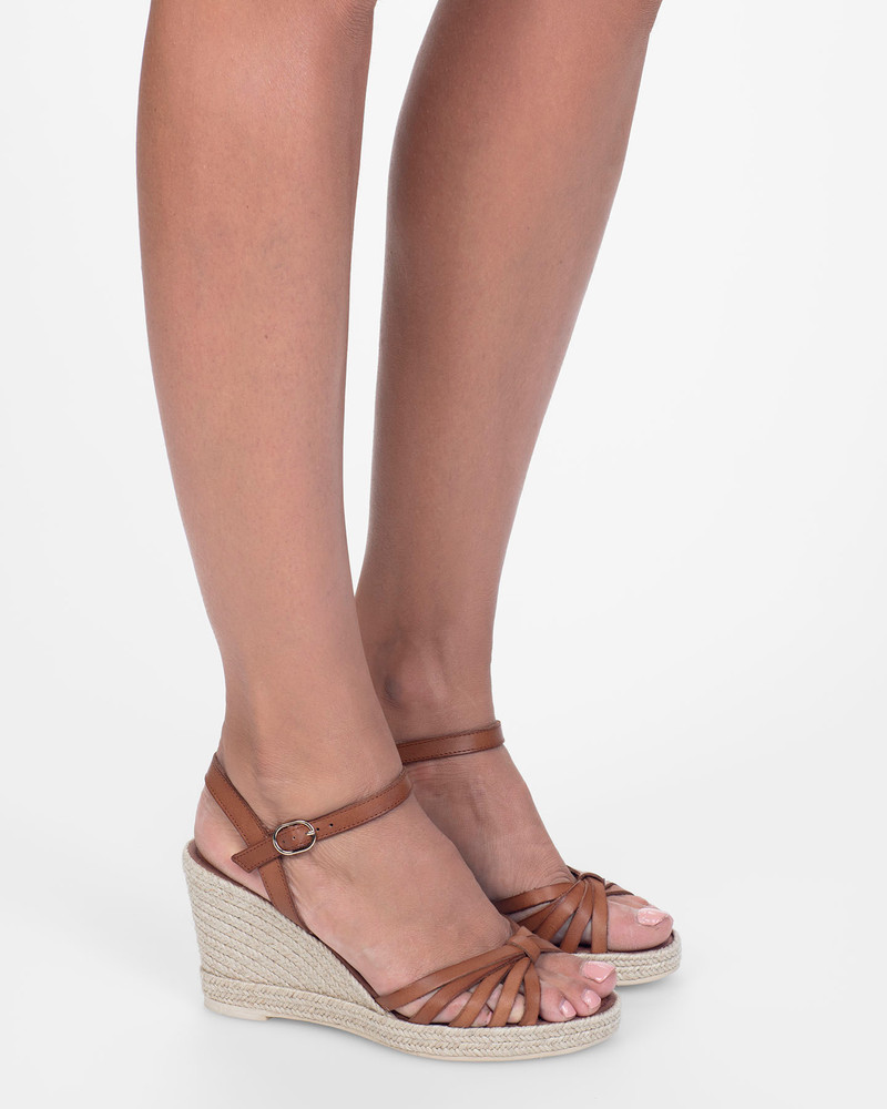 By Bianca Capri Wedge Tan