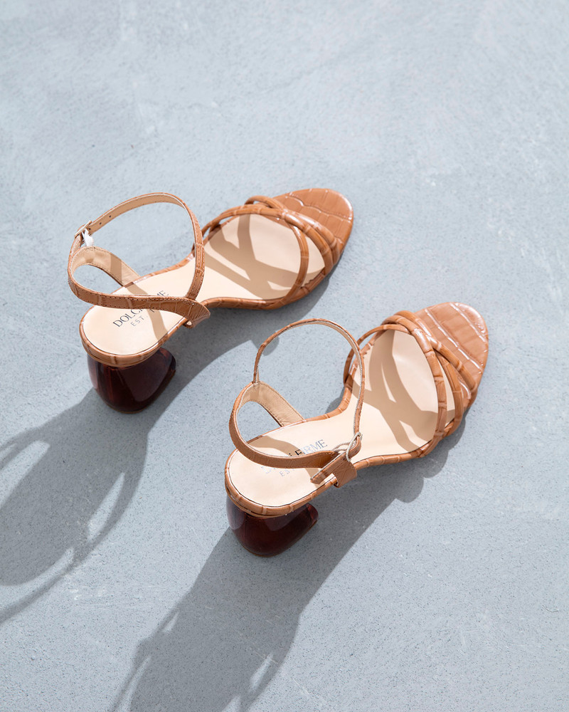 Natale Camel Sandals