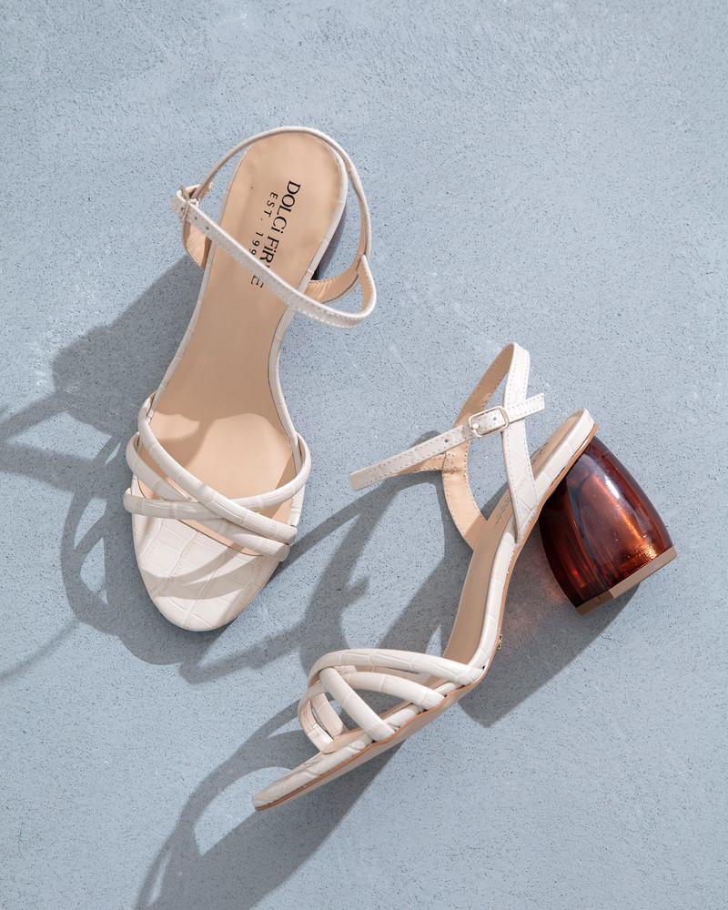 Natale Cream Sandals