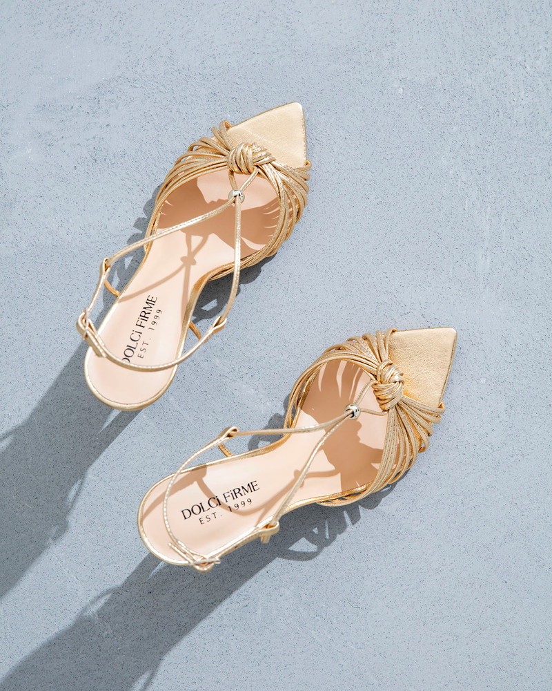 Gia Gold Sandals
