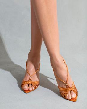 Gia Orange Sandals
