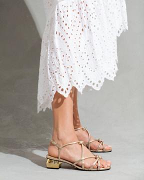 Laura Gold Sandals