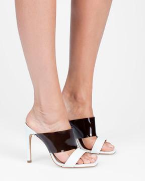 Lia White Sandals