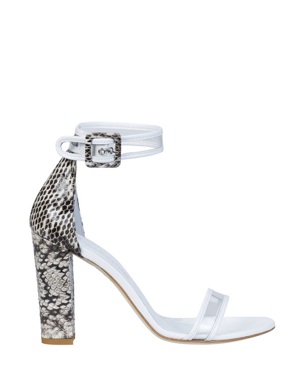 Bianca Buccheri EP08bb Sapri Sandal White side view
