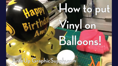 Vinyl on Balloons! Facebook LIVE video from July 12th
