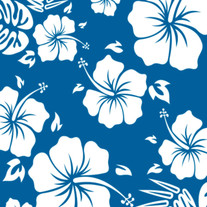 Tropical Blue Flower heat transfer vinyl