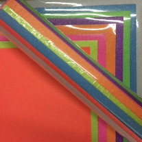 """Siser Neon Glitter - All Color Pack - 8 Colors - 12"""" x 20"""""""