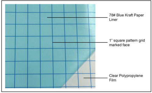 "FDC 2670 - Clear Transfer Tape with Grids - 12"" x 12"""