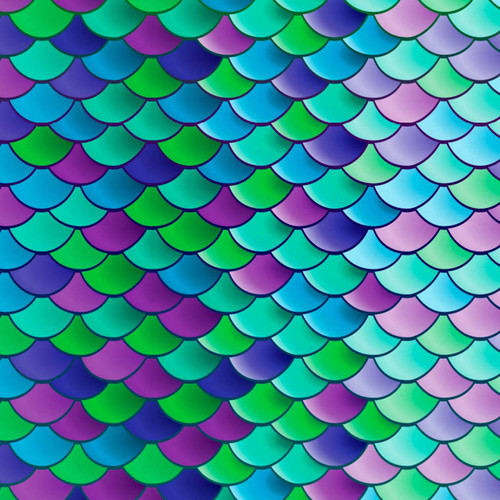 Mermaid Scales Heat Transfer Vinyl