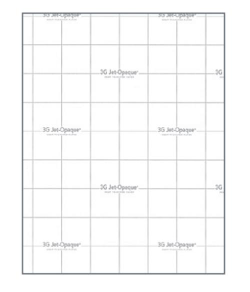 """3G JET OPAQUE HEAT TRANSFER PAPER 8.5""""X11"""" SHEET (DARK FABRICS) 25 pack"""