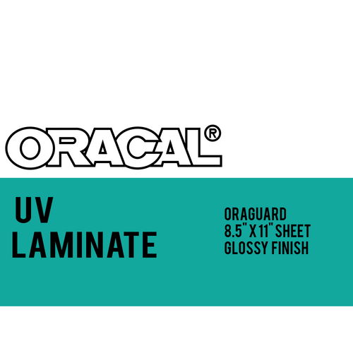 "Oracal UV Laminate for inkjet printable adhesive vinyl - 8.5"" x 11"""
