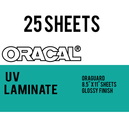 "Oracal UV Laminate for inkjet printable adhesive vinyl - 8.5"" x 11"" - 25 pack"