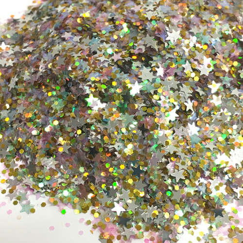 Emerald Star City - Glitter - Chunky Mix