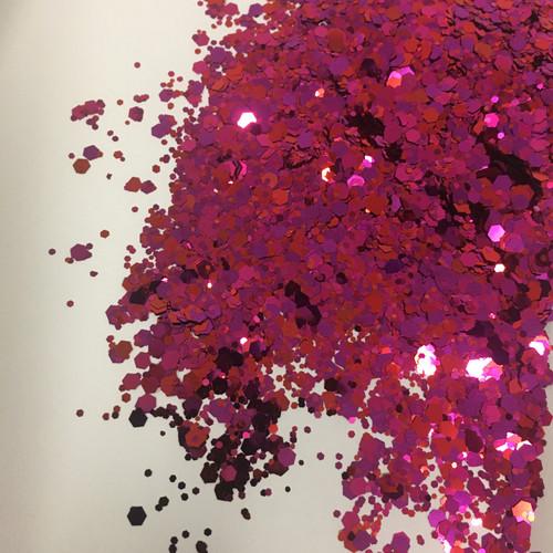 Ruby Rouge - Glitter - Chunky Mix