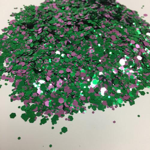 Purple Peacock - Glitter - Chunky Mix