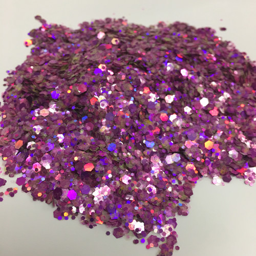 Purple Monster - Glitter - Chunky Mix