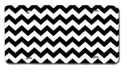 Chevron Black LICENSE PLATE