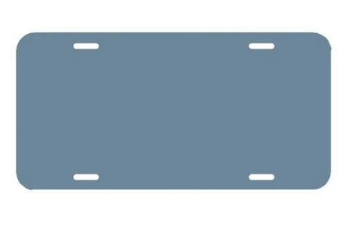 Colonial Blue LICENSE PLATE