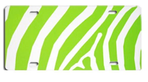 Zebra Green LICENSE PLATE
