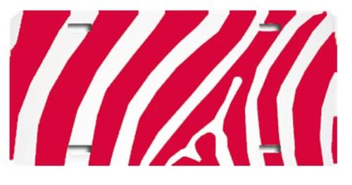 Zebra Red LICENSE PLATE