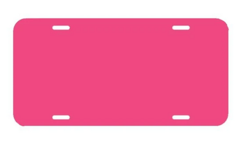 Pink LICENSE PLATE