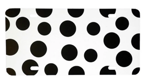 Polka Dot Black LICENSE PLATE