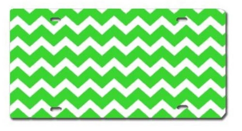 Chevron Lime Green LICENSE PLATE