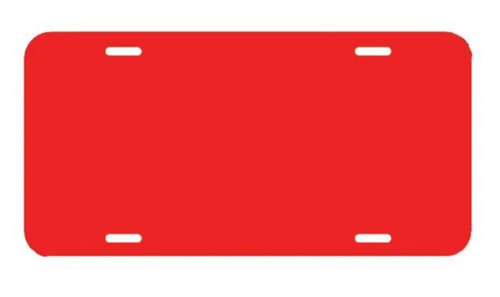 Red LICENSE PLATE