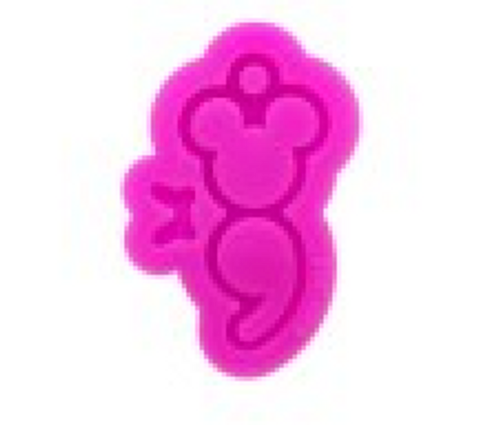 Semicolon Mouse - Keychain Mold