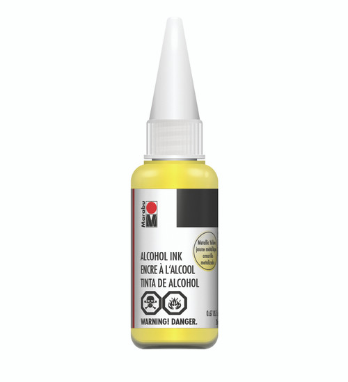 Metallic Yellow - 20ml - Alcohol Ink